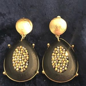 Chico's statement clip earrings